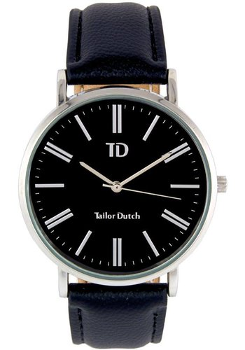Tailor Dutch Tailor Dutch horloge zwarte kast - leer