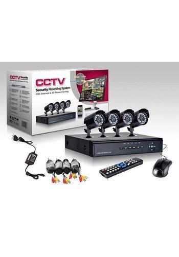 CCTV Camerasysteem 4 Camera's + DVR