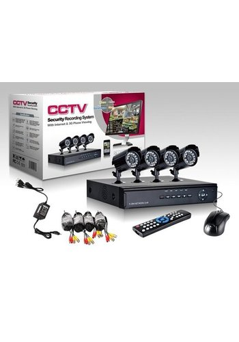 CCTV DVR Camerasysteem plug en play - 4 Camera's