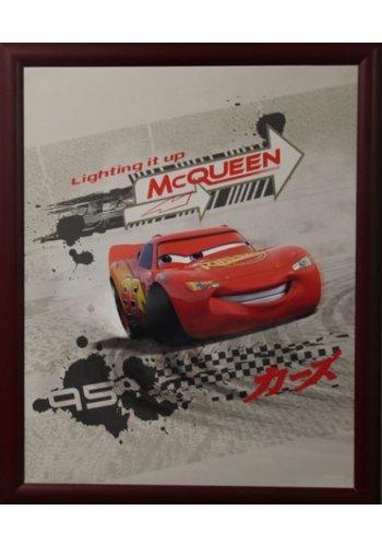 Disney Cars Poster met lijst 55,5x46 cm