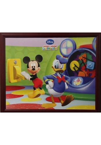 Disney Micky Mouse Poster met lijst 55,5x46 cm