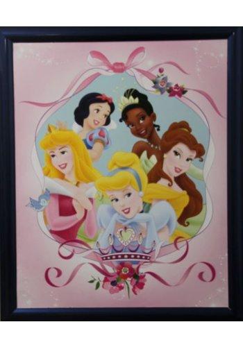 Disney Princess Poster met lijst 46x55,5 cm