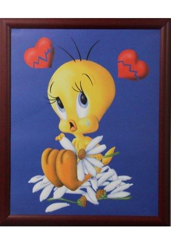 Looney Tunes Poster met lijst 46x55,5 cm