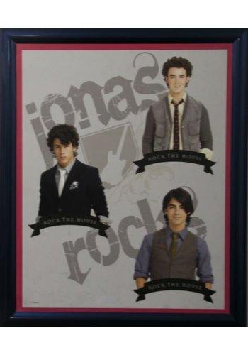 Jonas Brothers Poster met lijst 46x55,5 cm