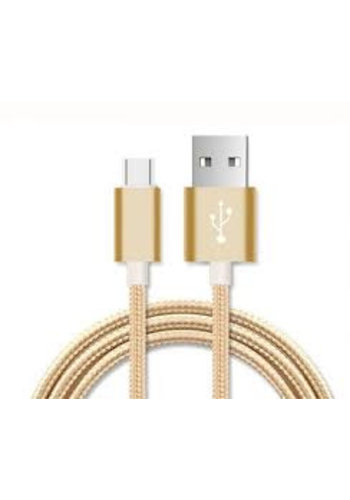 Neckermann Nylon USB-C kabel goud, 1 m