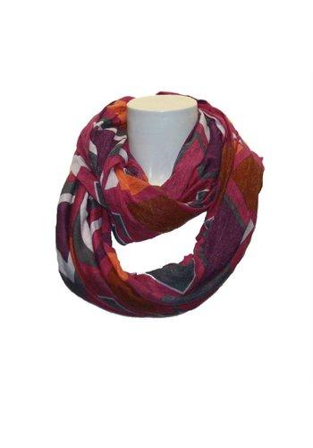 Romano Damen Schal lila mit Druck