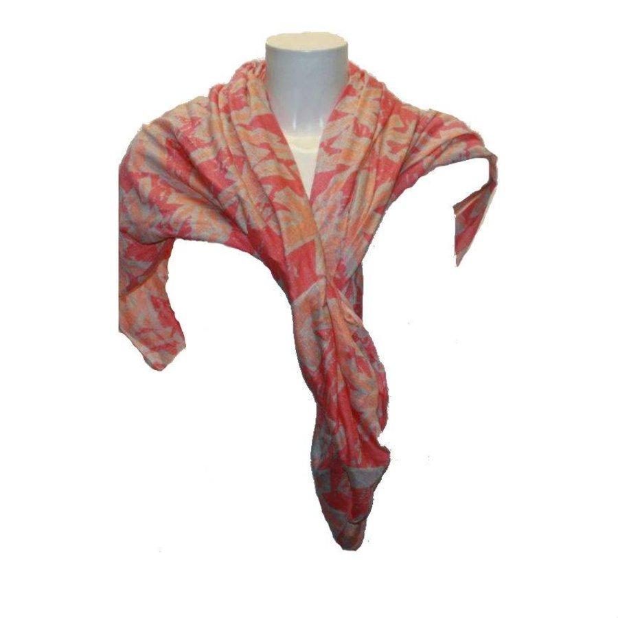 Damen Schal rosa mit Druck