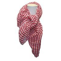 Damen Schal rosa mit weißen Streifen
