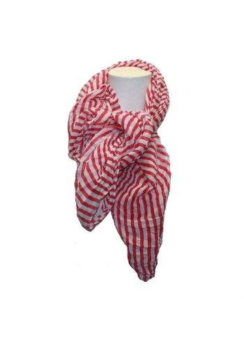 Romano Damen Schal rosa mit weißen Streifen