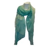 Damen Schal grün mit Tigerdruck