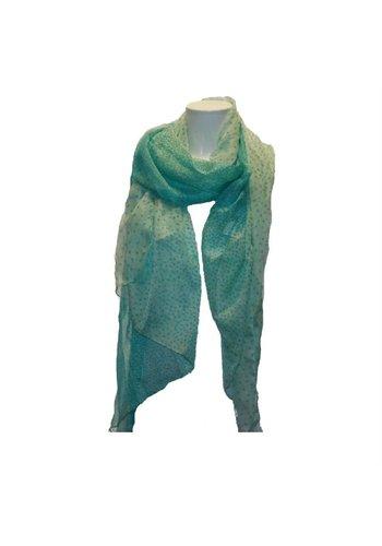 Romano Damen Schal grün mit Tigerdruck