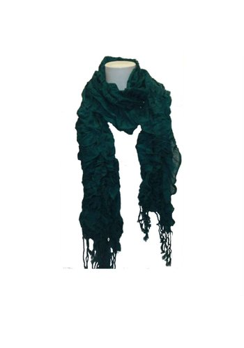 Bonprix collection Dames sjaal groen met franje