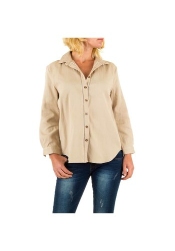 BY JULIE Dames blouse van By Julie - beige