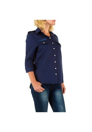 BY JULIE Dames blouse van By Julie - donker blauw