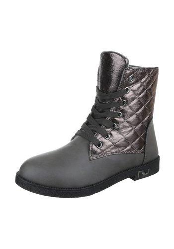 LUCKY SHOES Dames Boots grijs