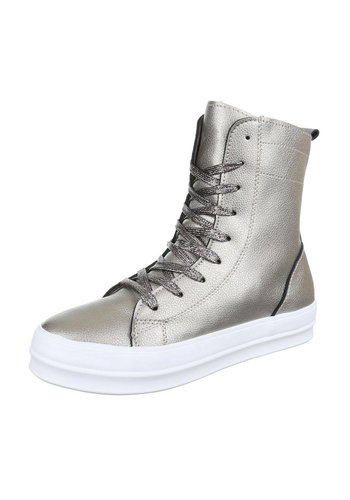 LUCKY SHOES Dames Sneakers - Zilver
