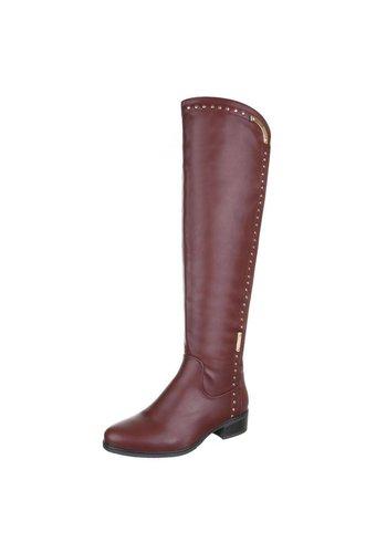 LUCKY SHOES Dames laarzen - rood