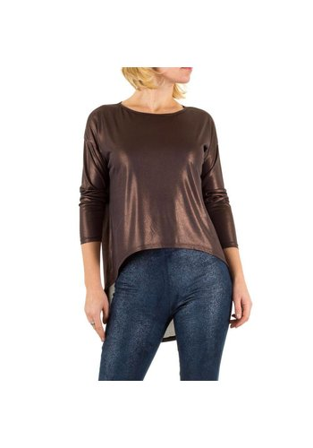 Neckermann Dames blouse one size - bruin