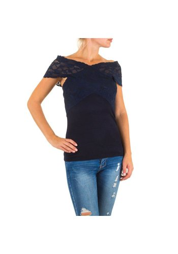 MOEWY Dames blouse van Moewy one size - Donker blauw