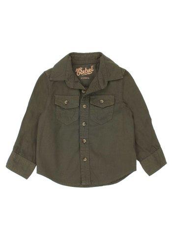 Little rebel Kinder lange mouwenshirt - khaki