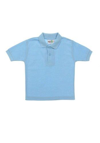 Neckermann Kinder Polos Shirt- Licht Blauw