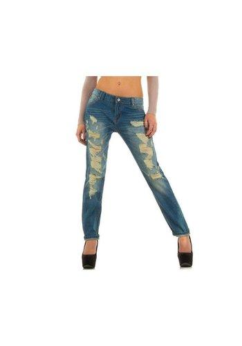 R.DISPLAY JEANS Dames Jeans van R.Display Jeans - Blauw