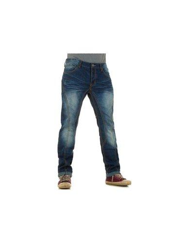 URBAN RAGS Heren Jeans van Urban Rags  - Blauw