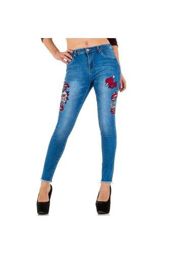 LEMONE JEANS Dames Jeans van Lemone Jeans - Blauw