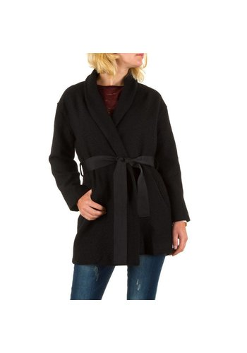 JCL Dames Mantel van Jcl - Zwart