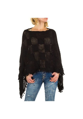 Best Fashion Dames poncho one size van Best Fashion  - zwart