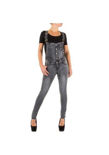 MISS BON Dames Jeans Overal van Miss Bon  - Grijs