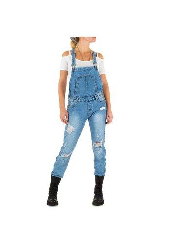 Laulia Dames Jeans Overal van Laulia  -Licht Blauw