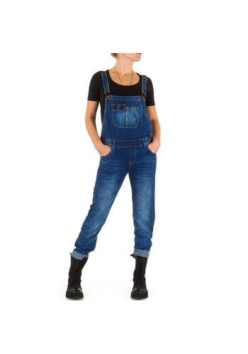 Laulia Dames Jeans Overal van Laulia  - Blauw