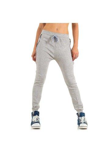 Markenlos Dames broek van Ld Style - licht grijs