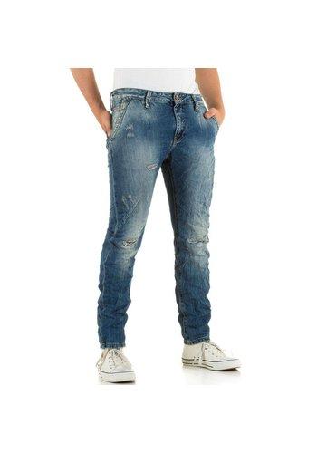 Markenlos Heren Jeans van X-Three - blauw