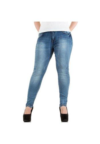 Miss Sister Dames Jeans van Miss Sister - Blauw