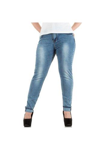 FARFALLINA Dames Jeans van Farfallina - Licht blauw Ook in plus Size