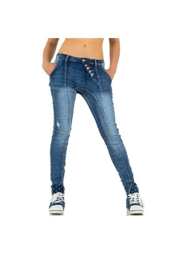 PLACE DU JOUR Dames Jeans van Place Du Jour - blauw
