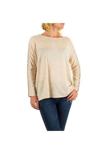 MOEWY Dames pullover van Moewy one size - creme