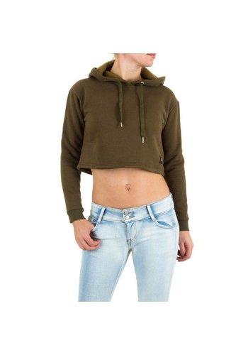 SIXTH JUNE Dames Sweatshirt met hoodie van Sixth June - kaki