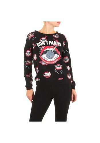 SIXTH JUNE Dames Sweatshirt van Sixth June - Zwart