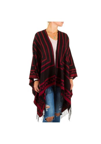 Best Fashion Dames Poncho van Best Fashion one size - Rood