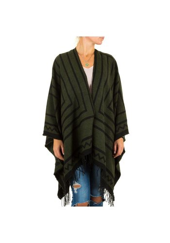Best Fashion Dames Poncho van Best Fashion one size - Groen