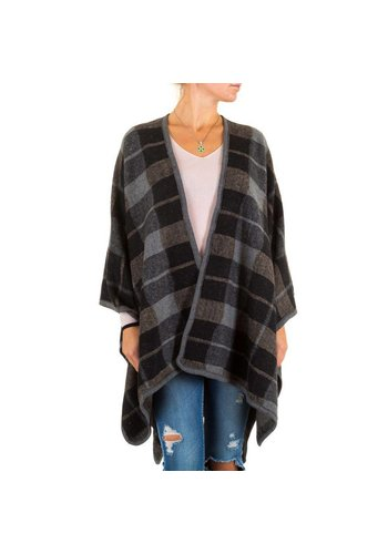 Best Fashion Dames Poncho van Best Fashion one size - Zwart