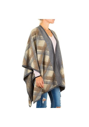 Best Fashion Dames Poncho van Best Fashion one size - Licht Grijs