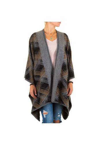 Best Fashion Dames Poncho van Best Fashion one size - Grijs