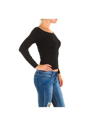 MOEWY Dames Top van Moewy one size - Zwart