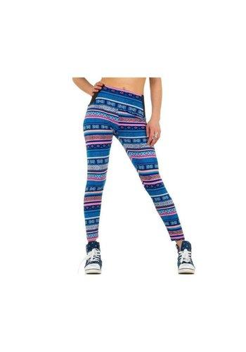 Best Fashion Dames legging van Best Fashion - blauw