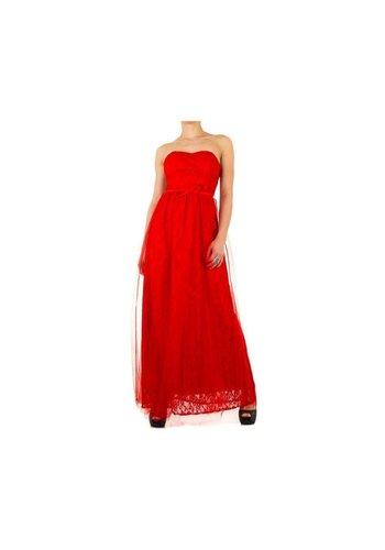 KIM&CO Dames jurk van Kimi&Co - rood