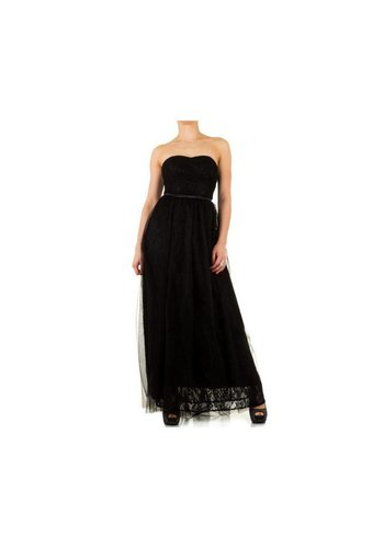KIM&CO Dames jurk van Kimi&Co - zwart